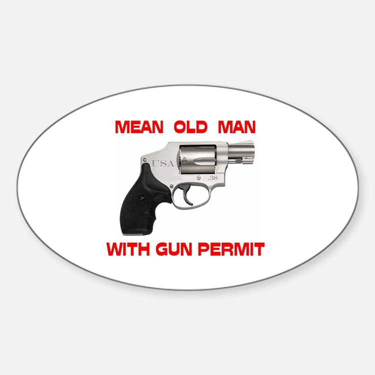 DON'T MESS WITH HIM ! - Oval Decal
