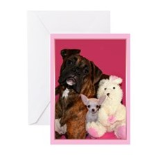 Boxer and Puppy Greeting Cards (Pk of 10)