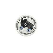 Ask Me About Roller Derby Mini Button (100 pack)