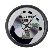 Mail Order Zombie Logo Large Wall Clock