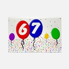 67th Birthday Rectangle Magnet (100 pack)