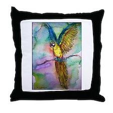 Blue Macaw, beautiful, Parrot, Throw Pillow