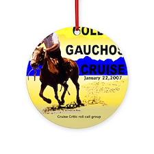 Golden Gauchos Ornament (Round)