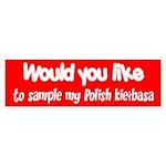 Polish Kielbasa Bumper Sticker