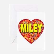 Miley Greeting Card