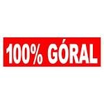 100% Goral Bumper Sticker
