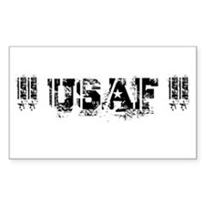 USAF Rectangle Sticker 10 pk)