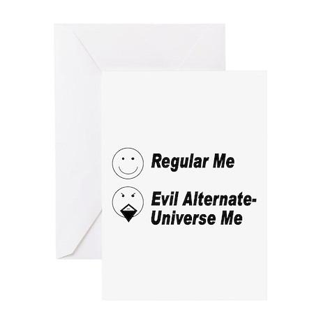 Evil Me Greeting Card
