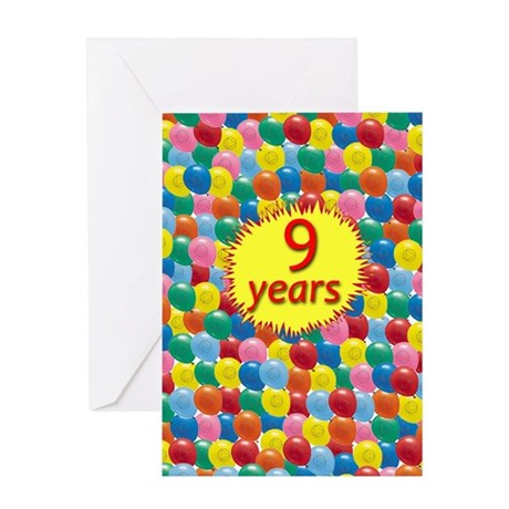 AABalloons9 Greeting Cards