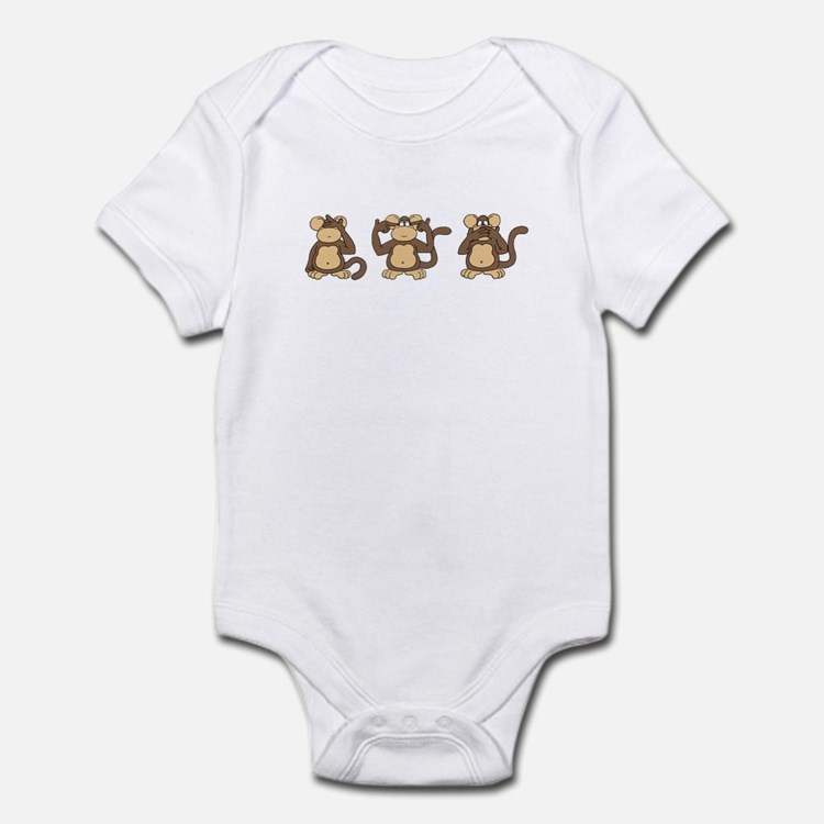 Three Wise Monkeys Infant Bodysuit