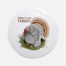 World Class Turkey Ornament (Round)