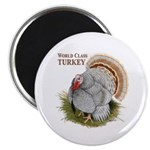 "World Class Turkey 2.25"" Magnet (100 pack)"