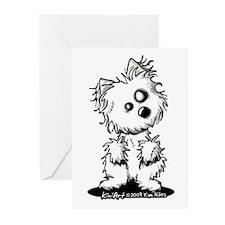 Zombie Westie Dog Greeting Cards (Pk of 20)