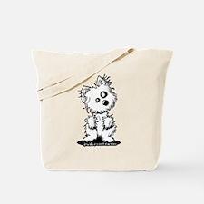 Zombie Westie Dog Tote Bag