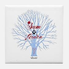 Shiver- Sam and Grace Tile Coaster