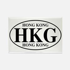HKG Hong Kong Rectangle Magnet