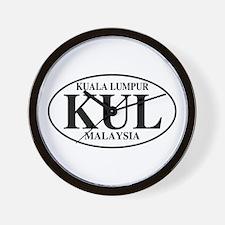 KUL Kuala Lumpur Wall Clock