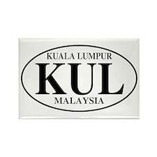 KUL Kuala Lumpur Rectangle Magnet