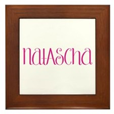 Natascha hot pink Framed Tile