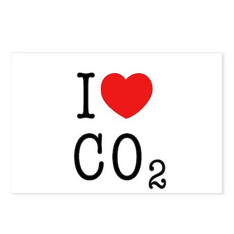 I LOVE CO2 (design_01) Postcards (Package of 8)