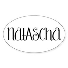 Natascha black Oval Decal