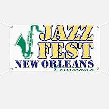 Jazz Fest NOLA sax Banner