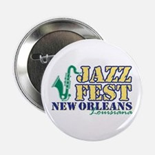 "Jazz Fest NOLA sax 2.25"" Button"