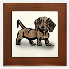 Dachshund Framed Tile