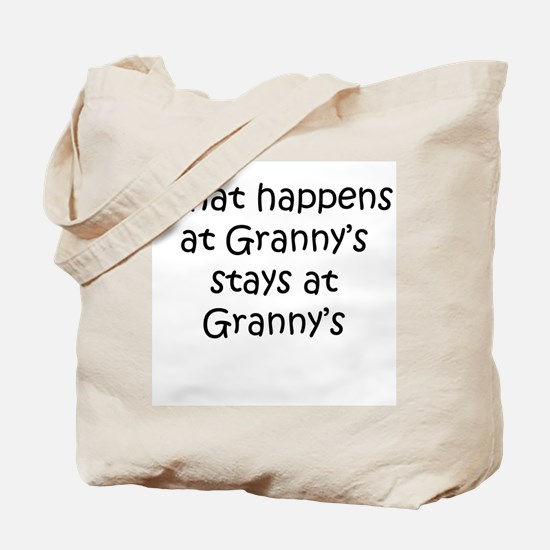 What happens Grannys Tote Bag