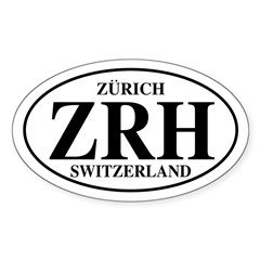 ZRH Zurich Oval Decal