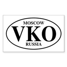 VKO Moscow Rectangle Decal