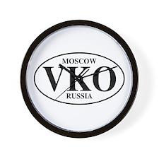 VKO Moscow Wall Clock