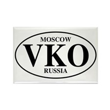 VKO Moscow Rectangle Magnet