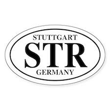 STR Stuttgart Oval Decal