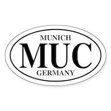 MUC Munich Oval Decal