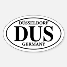 DUS Dusseldorf Oval Decal