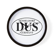 DUS Dusseldorf Wall Clock