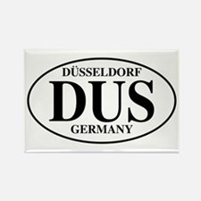 DUS Dusseldorf Rectangle Magnet