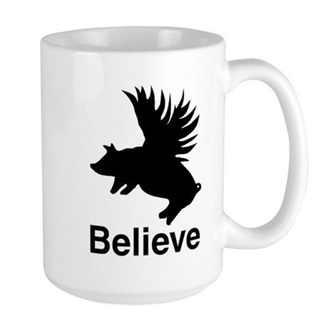 Flying Pig Large Mug