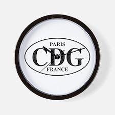 CDG Paris Wall Clock