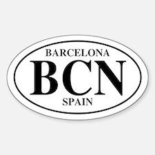 BCN Barcelona Oval Decal