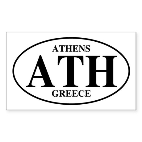 ATH Athens Rectangle Sticker