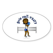 Dark Blue Boxing Oval Decal