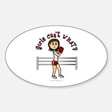 Light Red Boxer Oval Decal