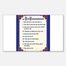 THE TEN COMMANDMENTS Rectangle Decal