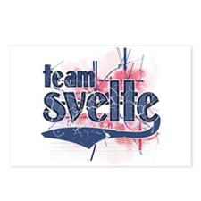 Team Svelte Buff Blue Postcards (Package of 8)