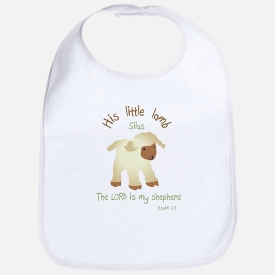 his Little Lamb Silas Religious Bib