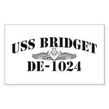 USS BRIDGET Rectangle Decal
