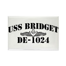 USS BRIDGET Rectangle Magnet
