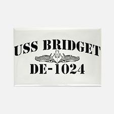 USS BRIDGET Rectangle Magnet